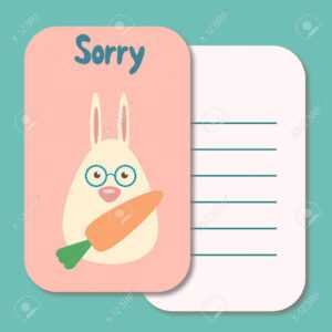 Sorry Card Template - Tomope.zaribanks.co with Sorry Card Template