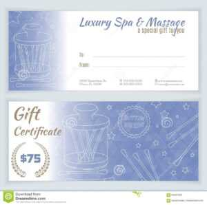 Spa, Massage Gift Certificate Template Stock Illustration regarding Massage Gift Certificate Template Free Download