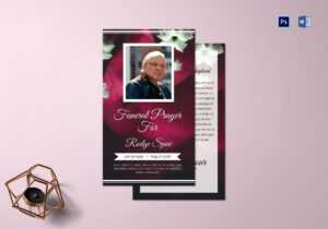 Special Funeral Prayer Card Template pertaining to Prayer Card Template For Word