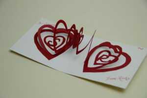 Spiral Heart Pop Up Card Template pertaining to Twisting Hearts Pop Up Card Template