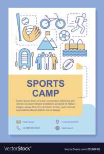 Sports Camp Body Training Brochure Template intended for Training Brochure Template