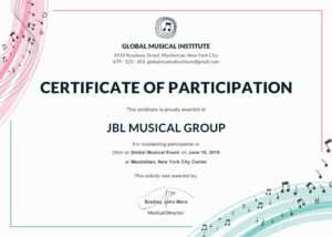 Sports Certificate Templates Free Printable Brochure inside Choir Certificate Template