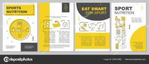 Sports Nutrition Brochure Template — Stock Vector © Bsd with regard to Nutrition Brochure Template