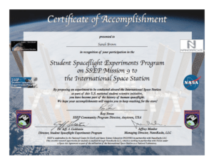 Ssep Mission 9 To Iss Student Certificates Of Accomplishment within International Conference Certificate Templates