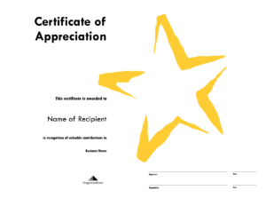 Star Award Certificate Templates Free Image in Star Naming Certificate Template