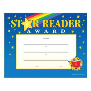 Star Reader Award Gold Foil-Stamped Certificates – Pack Of 25 regarding Star Of The Week Certificate Template