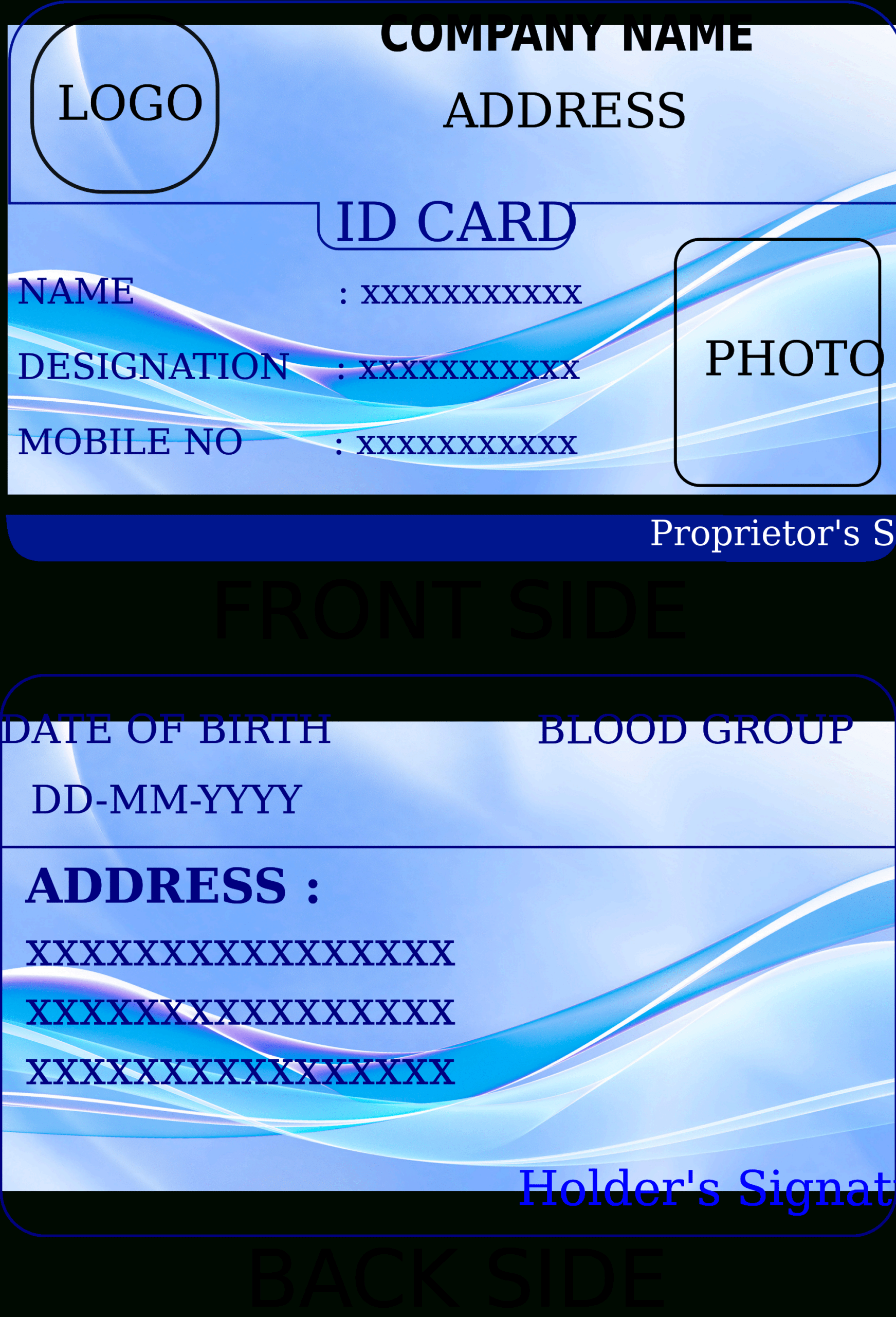 State Id Card Template - Oflu.bntl With Personal Identification Card Template