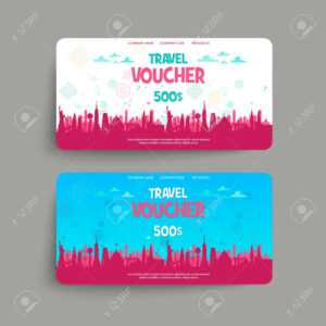 Stock Illustration throughout Free Travel Gift Certificate Template