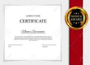 Stock Illustration with regard to Blank Share Certificate Template Free