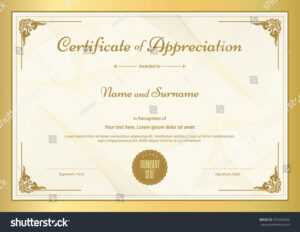 Stock-Vector-Certificate-Of-Appreciation-Template-With with Certificate Of Appreciation Template Doc