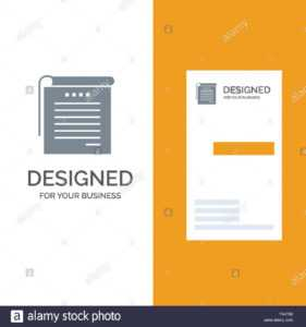 Student, Notes, Books, Student Notes Grey Logo Design And regarding Student Business Card Template