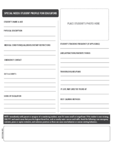 Student Profile Form – 2 Free Templates In Pdf, Word, Excel throughout Student Information Card Template