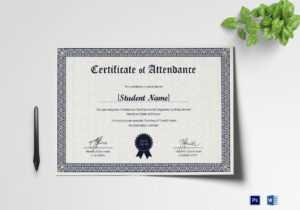 Students Attendance Certificate Template pertaining to Certificate Of Attendance Conference Template