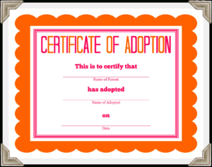 Stuffed Animal Adoption Certificate regarding Pet Adoption Certificate Template
