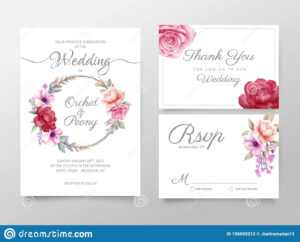 Stylish Watercolor Floral Wedding Invitation Cards Template inside Free Printable Wedding Rsvp Card Templates