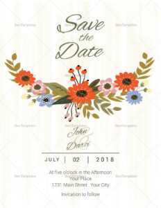 Summer Floral Save The Date Card Template for Save The Date Cards Templates