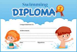 Swimming Diploma Certificate Template – Download Free regarding Swimming Award Certificate Template