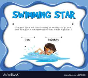Swimming Star Certification Template With Swimmer regarding Swimming Award Certificate Template