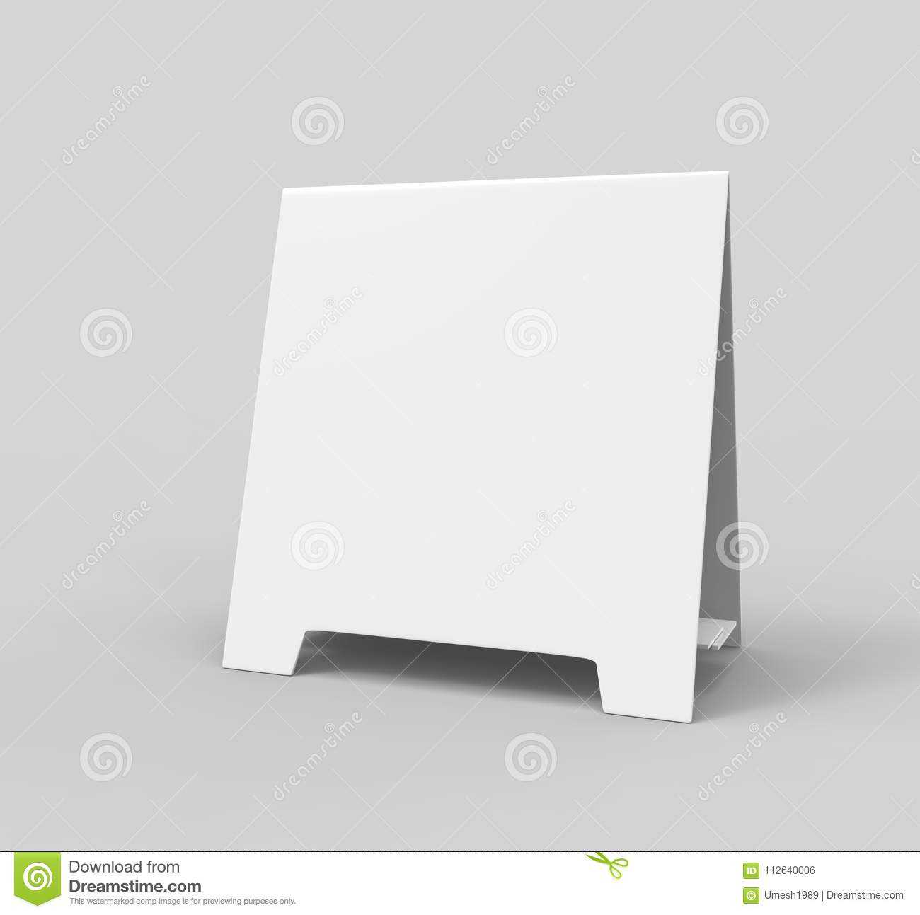Tablet Tent Card Talkers Promotional Menu Card White Blank In Blank Tent Card Template