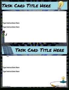 Task Card Template Storyboardanna-Warfield within Task Card Template