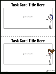Task Card Template   Task Card Maker with Task Card Template