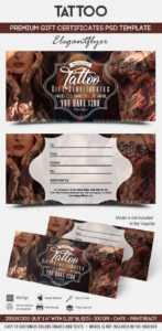 Tattoo Gift Voucher Template in Tattoo Gift Certificate Template