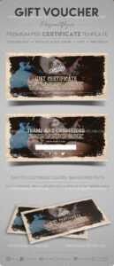 Tattoo Salon – Gift Certificate Template In Psd with Gift Certificate Template Photoshop