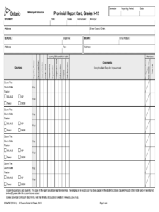 Tdsb Report Card Pdf – Fill Online, Printable, Fillable throughout Blank Report Card Template