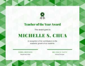 Teacher Of The Year Award Certificate – Templatescanva intended for Student Of The Year Award Certificate Templates