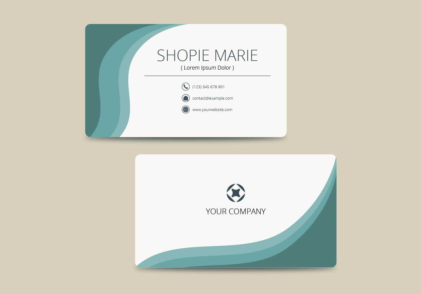 Teal Business Card Template Vector - Download Free Vectors Intended For Buisness Card Template