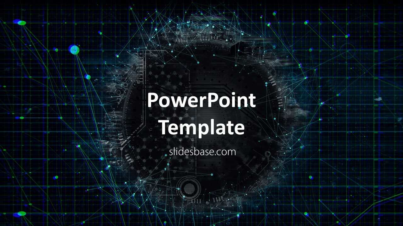 Technology Network Powerpoint Template Regarding Powerpoint Templates For Technology Presentations