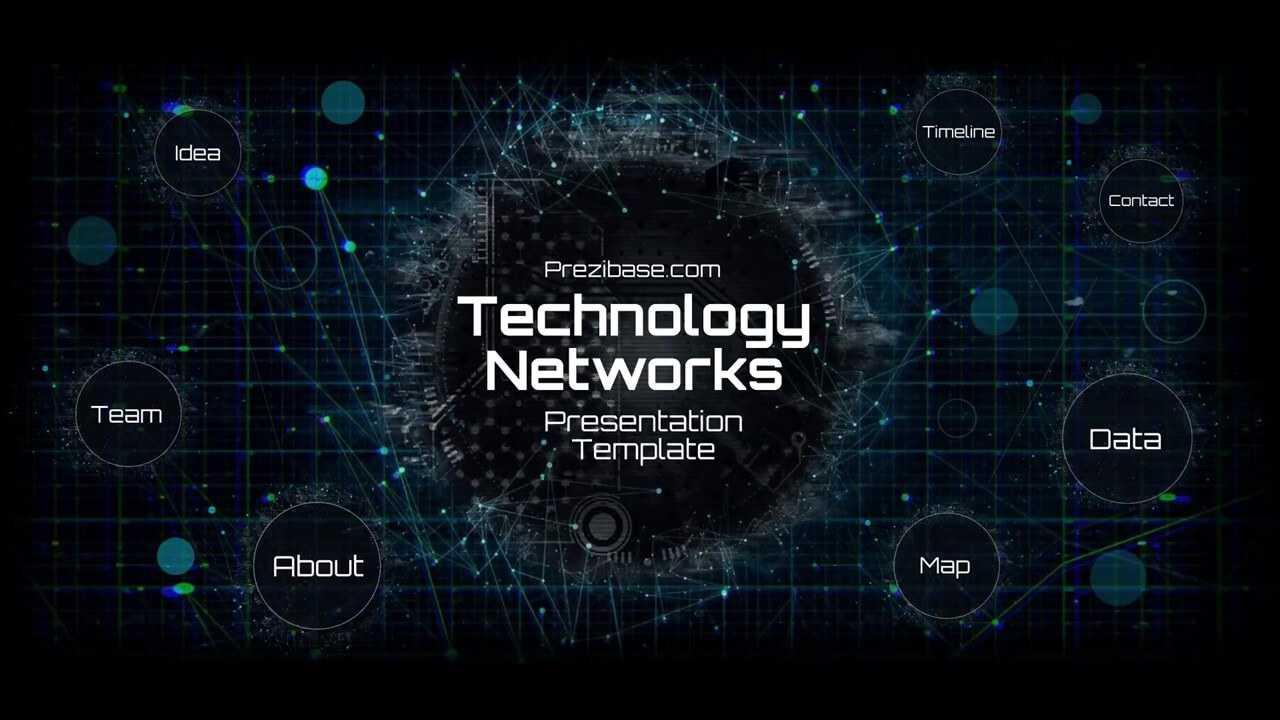 Technology Network Presentation Template   Prezibase In Powerpoint Templates For Technology Presentations
