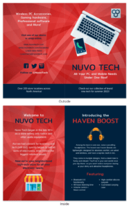 Technology Product Bi Fold Brochure Template with Technical Brochure Template