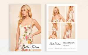 Template 83226 : Bella Treloar – Modeling Comp Card pertaining to Download Comp Card Template