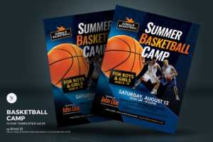 Template 84936 : Basketball Camp Flyer Corporate Identity intended for Basketball Camp Certificate Template