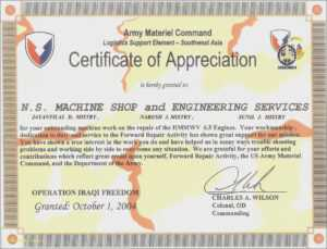 Template For Army Certificate Of Appreciation Templates regarding Army Certificate Of Appreciation Template
