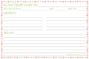 Template For Recipe Cards ] – Printable Recipe Card with regard to 4X6 Photo Card Template Free
