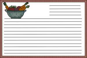 Template For Recipe Cards ] – Printable Recipe Card within 4X6 Photo Card Template Free