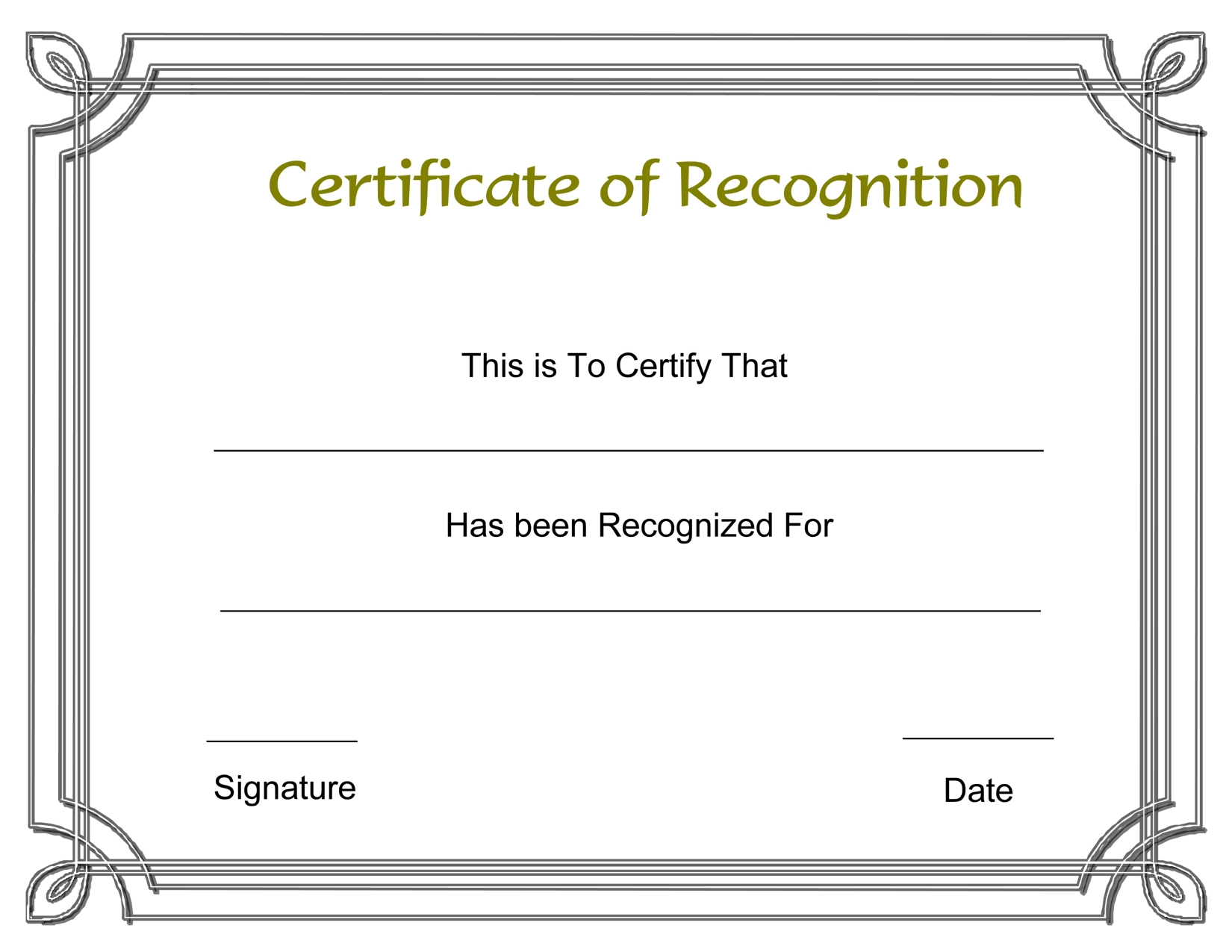 Template Free Award Certificate Templates And Employee Intended For Printable Certificate Of Recognition Templates Free