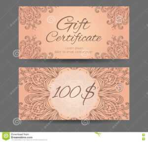 Template Gift Certificate For Yoga Studio, Spa Center with regard to Yoga Gift Certificate Template Free