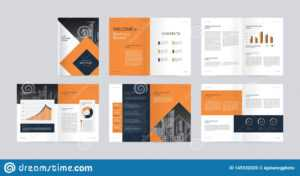 Template Layout Design With Cover Page For Company Profile pertaining to Fancy Brochure Templates