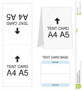 Tent Card A4 A5 Size Mock Up Die-Cut Stock Vector intended for Free Tent Card Template Downloads