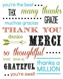 Thank You Card Free Printable in Soccer Thank You Card Template