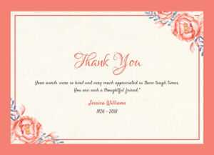 Thank You For Attending Funeral – Oflu.bntl pertaining to Sympathy Thank You Card Template