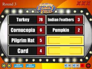 Thanksgiving Family Feud Trivia Powerpoint Game – Mac And Pc intended for Family Feud Powerpoint Template With Sound