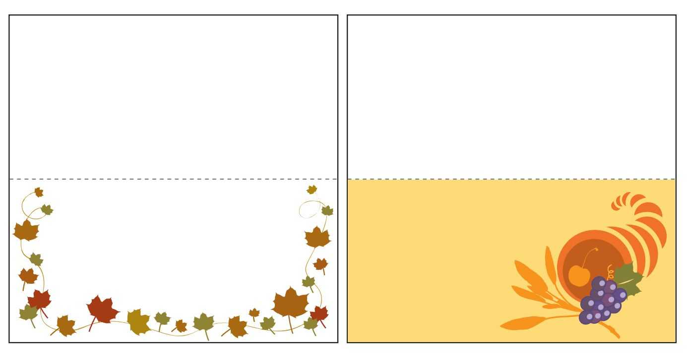 Thanksgiving Place Card Templates Gallery - Free Templates Ideas Pertaining To Thanksgiving Place Card Templates