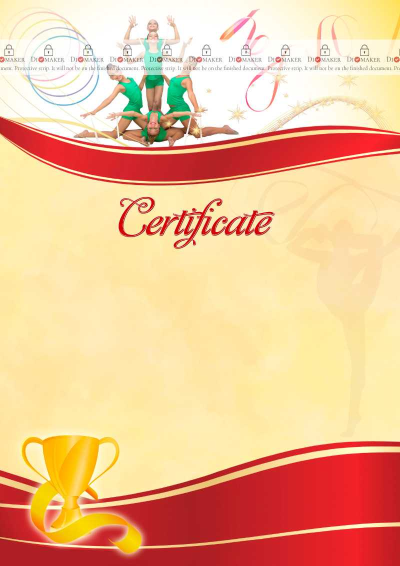 The Certificate Template «Rhythmic Gymnastics» - Dimaker Intended For Gymnastics Certificate Template