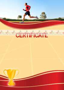 The Certificate Template «Running» – Dimaker – Templates in Athletic Certificate Template