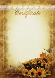 The Certificate Template «Warmth Of The Day» – Dimaker with Player Of The Day Certificate Template