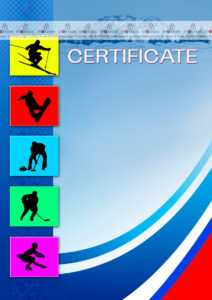 The Certificate Template «Winter Sports» – Dimaker with regard to Hockey Certificate Templates